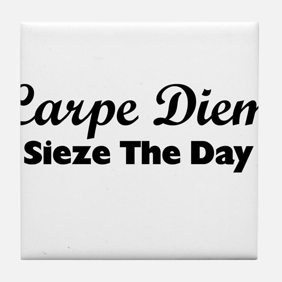 Carpe Diem Tile Coaster