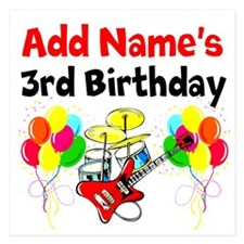 HAPPY 3RD BIRTHDAY 5.25 x 5.25 Flat Cards