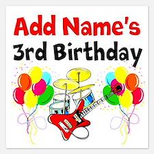 HAPPY 3RD BIRTHDAY 5.25 x 5.25 Flat Cards