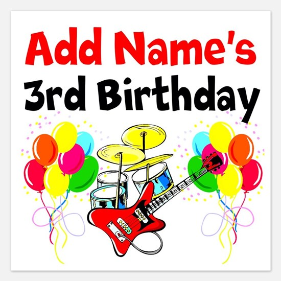 HAPPY 3RD BIRTHDAY Invitations