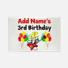 HAPPY 3RD BIRTHDAY Rectangle Magnet