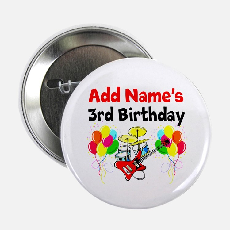3 Year Old Birthday Buttons