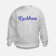 Washburn, Blue, Aged Sweatshirt