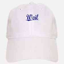 Weil, Blue, Aged Baseball Baseball Cap