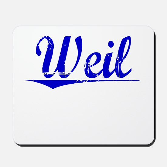 Weil, Blue, Aged Mousepad