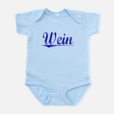 Wein, Blue, Aged Infant Bodysuit