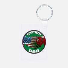 Wales USA Friendship (in Welsh) Keychains