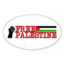 Free Palestine Oval Decal