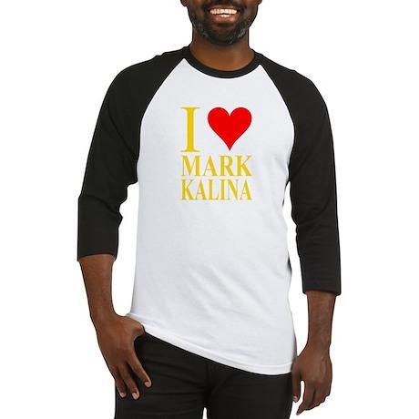 Mark Kalina Heart Yellow/Red Baseball Jersey