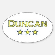 Duncan Oval Decal