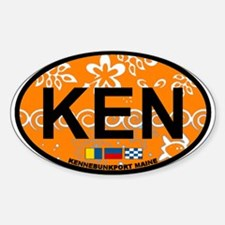 Kennebunk ME - Oval Design. Decal