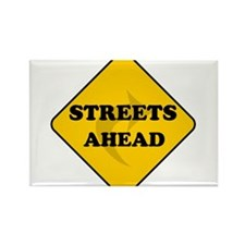 Streets Ahead Rectangle Magnet
