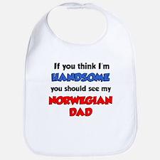 Im Handsome Norwegian Dad Bib