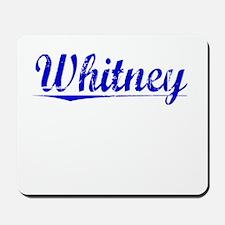 Whitney, Blue, Aged Mousepad