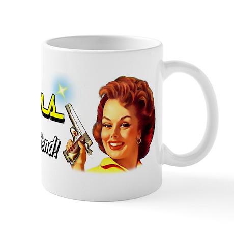 Handguns are a girl's best friend Mug