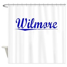 Wilmore, Blue, Aged Shower Curtain