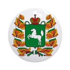 Tomsk Coat of Arms Ornament (Round)