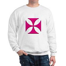 Pink Maltese Cross Sweatshirt