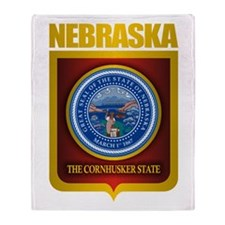 Nebraska Seal (back) Throw Blanket