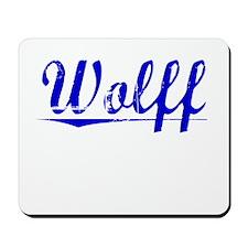 Wolff, Blue, Aged Mousepad