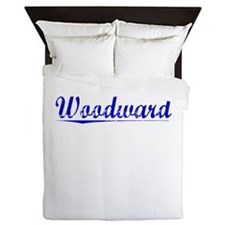 Woodward, Blue, Aged Queen Duvet