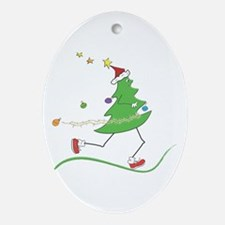 Christmas Tree Runner Ornament (Oval)