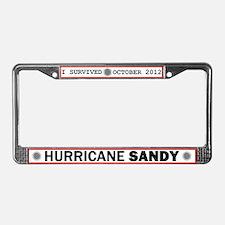 I Survived Hurricane Sandy License Plate Frame