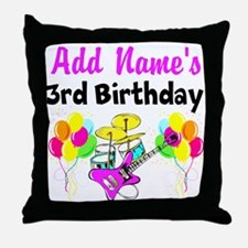 HAPPY 3RD BIRTHDAY Throw Pillow