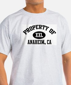 Property of ANAHEIM Ash Grey T-Shirt