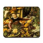 Medieval Vegetable Vendor Mousepad