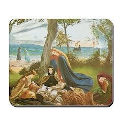 King Arthur in Avalon Mousepad