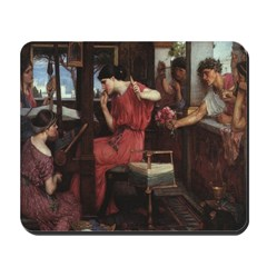Penelope and Her Suitors Mousepad