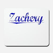 Zachery, Blue, Aged Mousepad