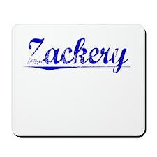 Zackery, Blue, Aged Mousepad