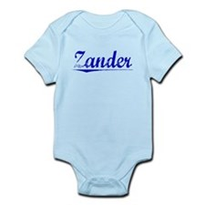 Zander, Blue, Aged Infant Bodysuit