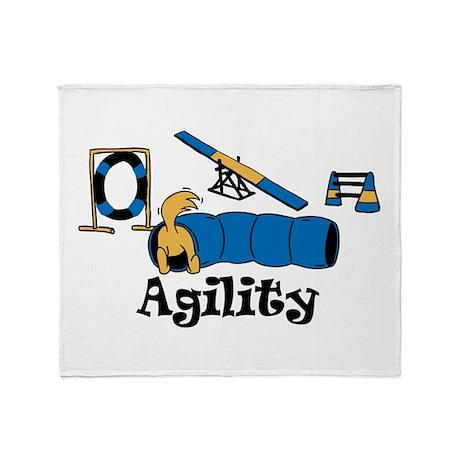 Agility Dog Throw Blanket