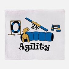 Agility Dog Throw Blanket