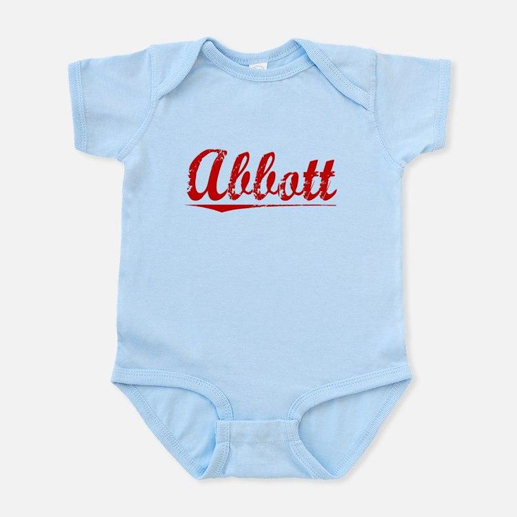 Abbott, Vintage Red Infant Bodysuit