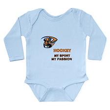 Hockey My Passion Long Sleeve Infant Bodysuit
