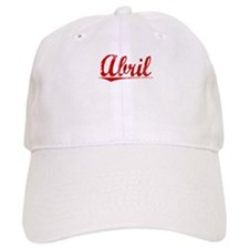 Abril, Vintage Red Baseball Cap