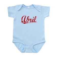 Abril, Vintage Red Infant Bodysuit