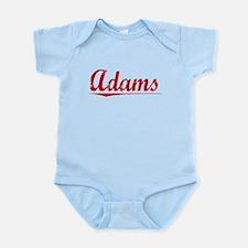 Adams, Vintage Red Infant Bodysuit