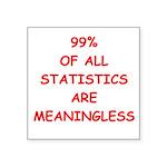 STATISITCS Square Sticker 3