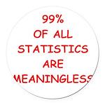 STATISITCS Round Car Magnet