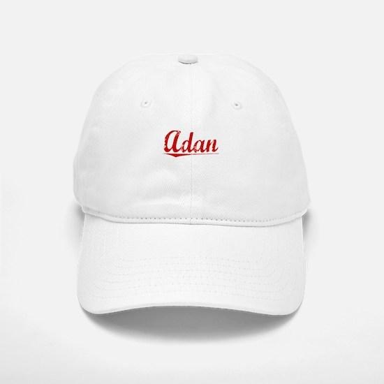 Adan, Vintage Red Baseball Baseball Cap