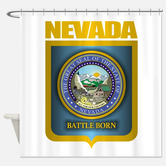 nevada seal back shower curtain