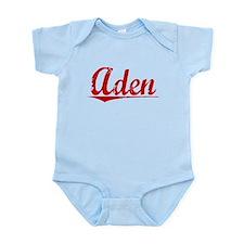 Aden, Vintage Red Infant Bodysuit