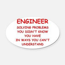 ENGINEER Oval Car Magnet