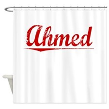 Ahmed, Vintage Red Shower Curtain
