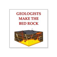 """geology gifts Square Sticker 3"""" x 3"""""""